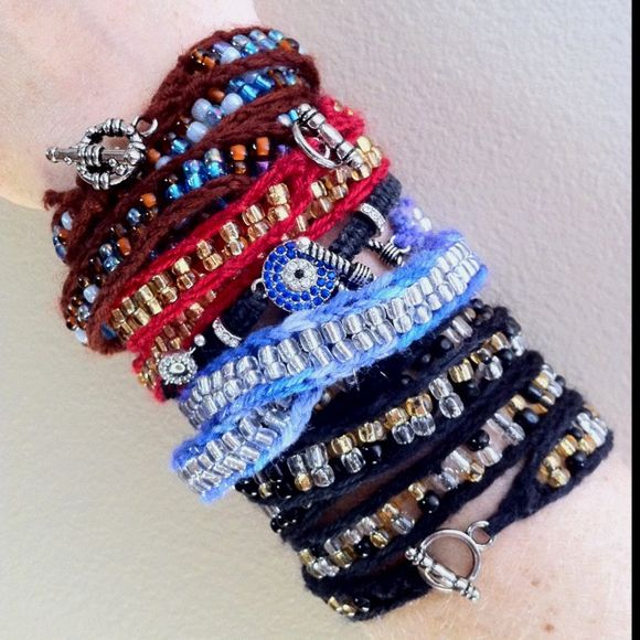 Ribband Knit Wrap Bracelets