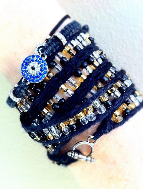 Ribband Knit Wrap Bracelets